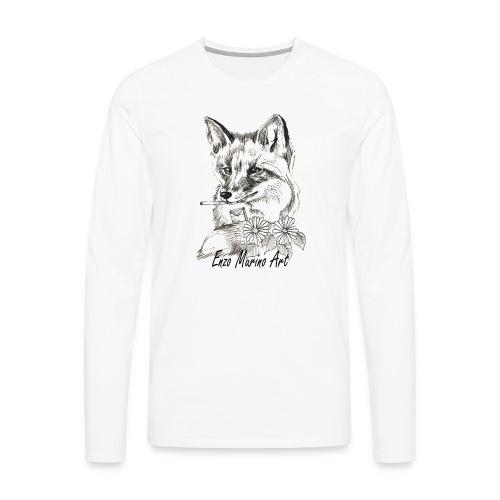 Renard la clope - T-shirt manches longues Premium Homme