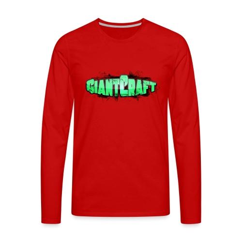 Vandflaske - GiantCraft - Herre premium T-shirt med lange ærmer