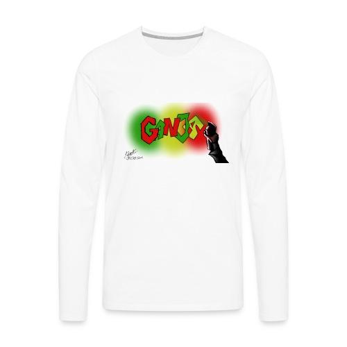 Ganja - Herre premium T-shirt med lange ærmer