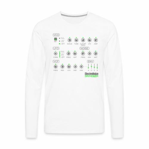 Synthesizer Drehregler Fader Electro EQ Clubbing - Männer Premium Langarmshirt