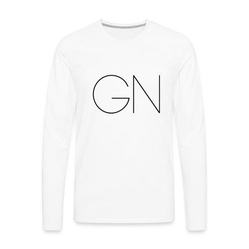 Långärmad tröja GN slim text - Långärmad premium-T-shirt herr