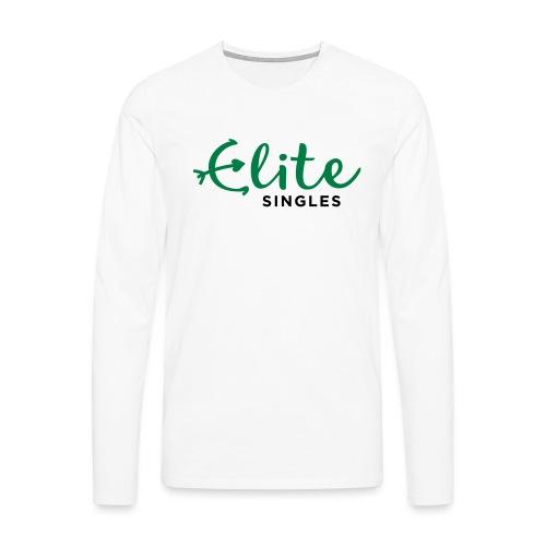 EliteSingles Logo EN Dark - Männer Premium Langarmshirt