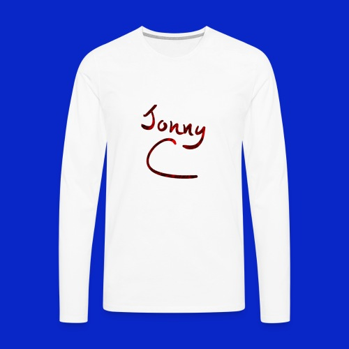 Jonny C Red Handwriting - Men's Premium Longsleeve Shirt
