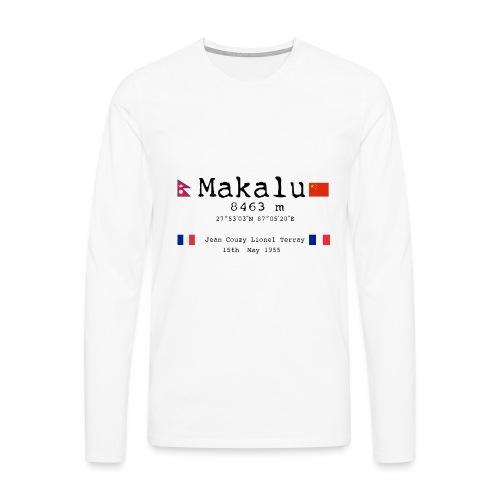 Makalublack - Maglietta Premium a manica lunga da uomo