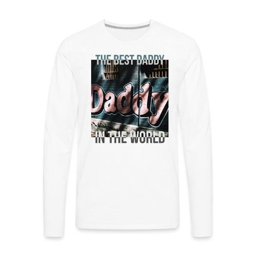 Najlepszy tata na świecie - Koszulka męska Premium z długim rękawem