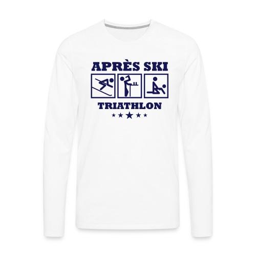 Apres Ski Triathlon | Apreski-Shirts gestalten - Männer Premium Langarmshirt