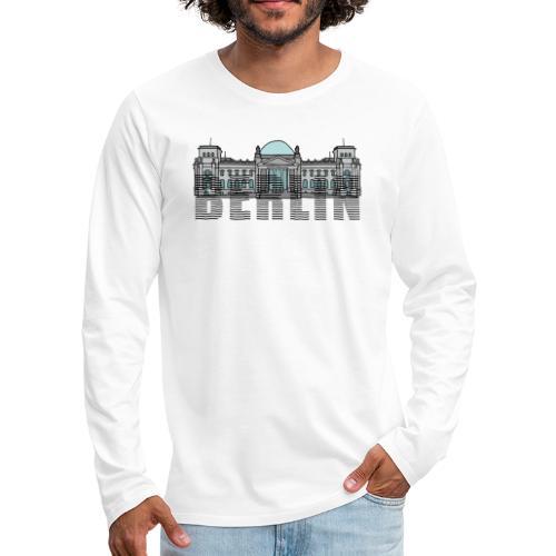 Berlin Linienschrift - Männer Premium Langarmshirt