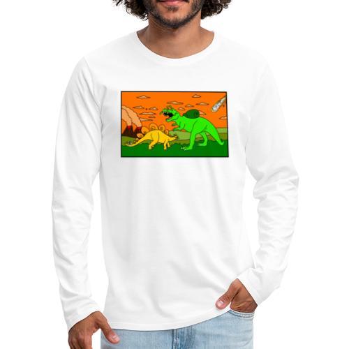 Schneckosaurier von dodocomics - Männer Premium Langarmshirt