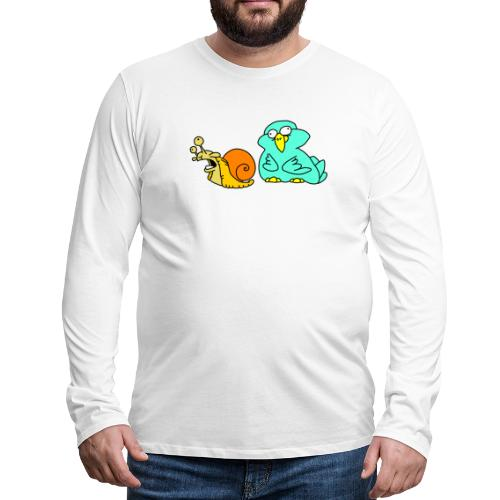 Schnecke und Vogel Nr 3 von dodocomics - Männer Premium Langarmshirt