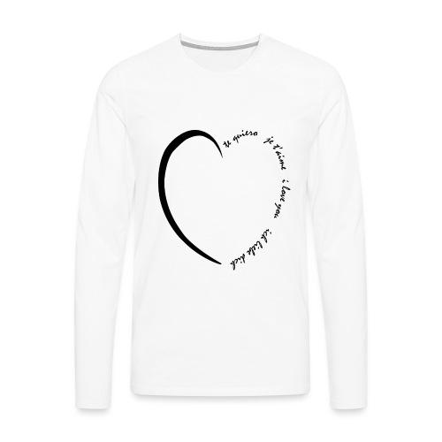 Multi Love - T-shirt manches longues Premium Homme