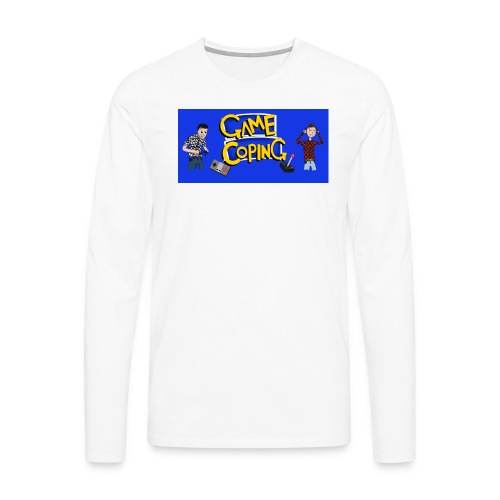 Game Coping Angry Banner - Men's Premium Longsleeve Shirt