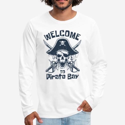Piratenbucht Seemann - Männer Premium Langarmshirt