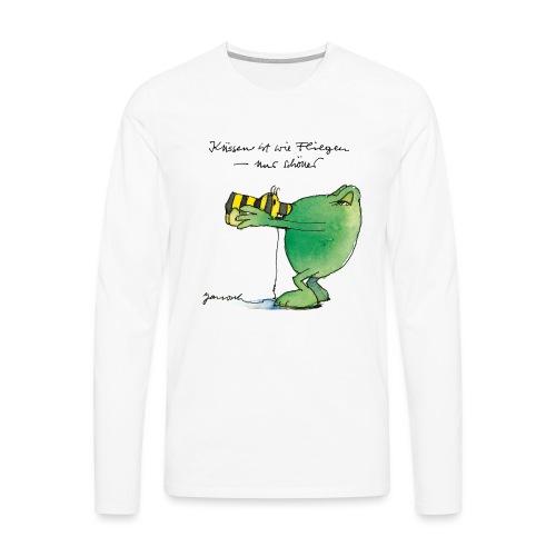 Janosch Frosch 'Küssen ist wie ...' - Männer Premium Langarmshirt