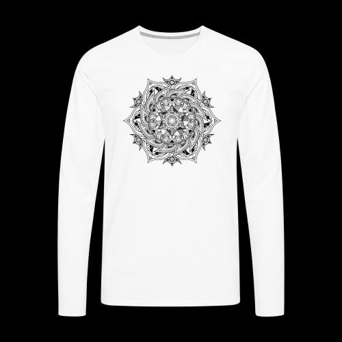 Mandala - Maglietta Premium a manica lunga da uomo