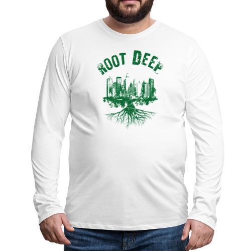 Root deep Urban grün - Männer Premium Langarmshirt