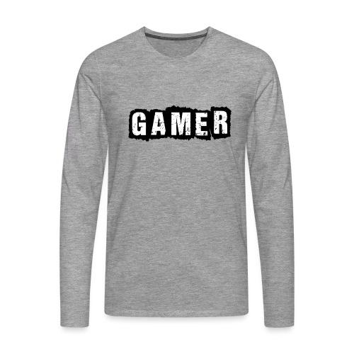 D 40 Gamer - Männer Premium Langarmshirt