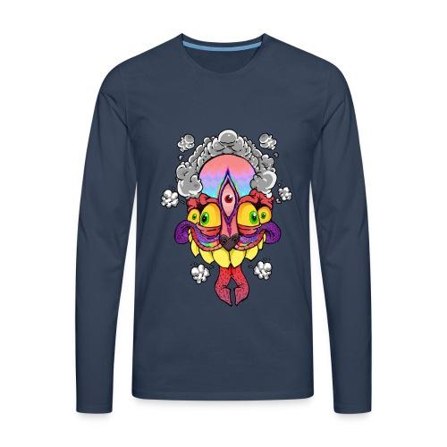 206194 peanutbutterclawk high flyin t shirt desig - Mannen Premium shirt met lange mouwen