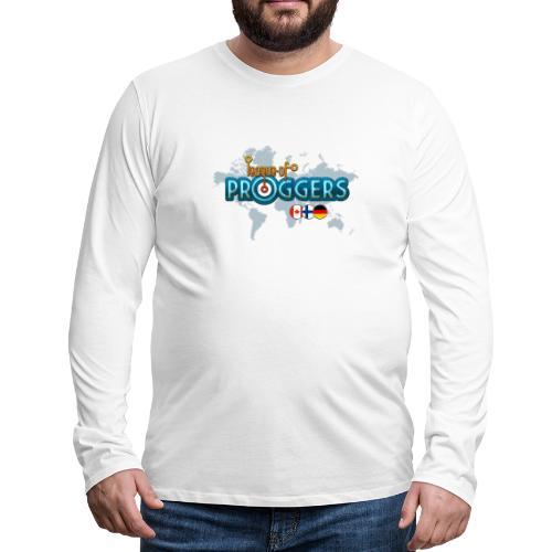 Logo-for-WHITE - Miesten premium pitkähihainen t-paita