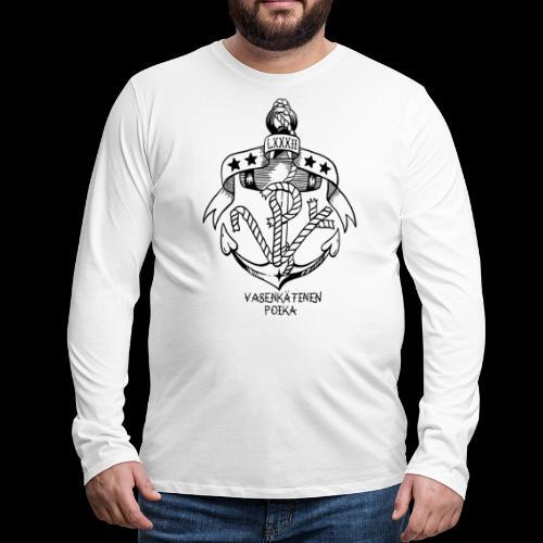 VP Ankkuri - Miesten premium pitkähihainen t-paita
