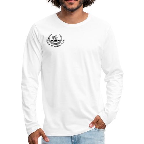 logo på brystet - Herre premium T-shirt med lange ærmer