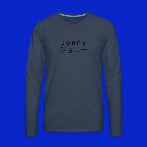 J o n n y (black) - Men's Premium Longsleeve Shirt