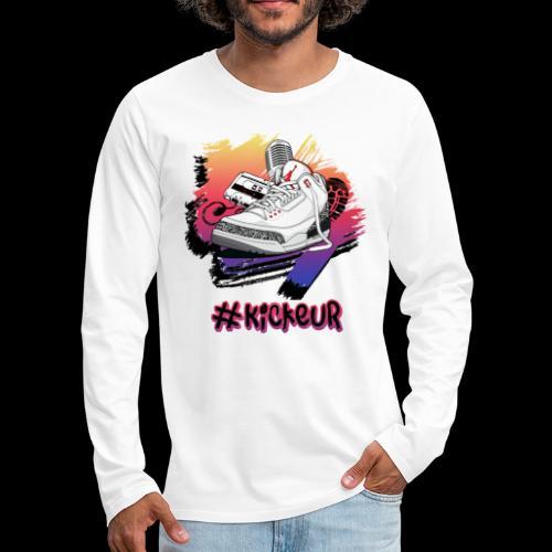 #Kickeur Noir - T-shirt manches longues Premium Homme