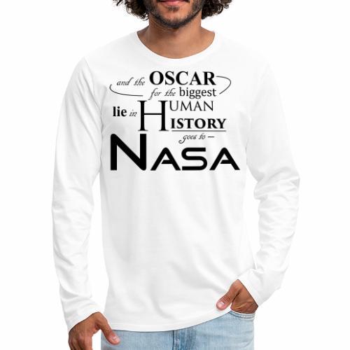 Flat Earth Nasa - Männer Premium Langarmshirt