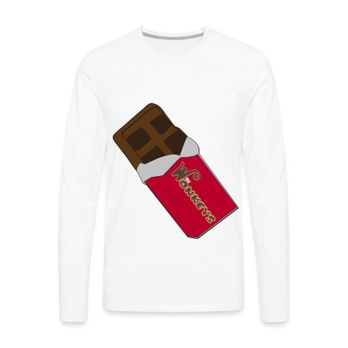 The Wonkeys Chocolate Edition - Maglietta Premium a manica lunga da uomo
