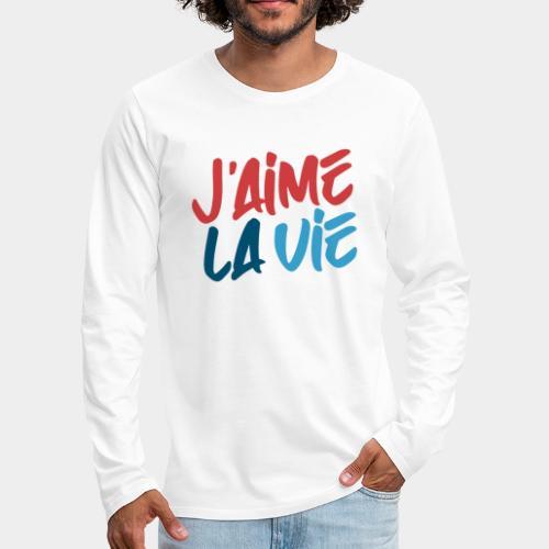Ich liebe das Leben - T-shirt manches longues Premium Homme
