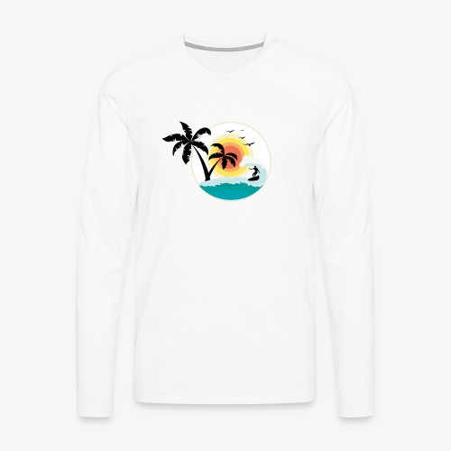 Surfing in paradise - Männer Premium Langarmshirt