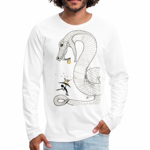 Poison - Combat contre un serpent venimeux géant - T-shirt manches longues Premium Homme