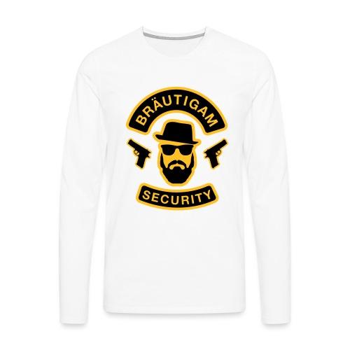 Bräutigam Security - JGA T-Shirt - Bräutigam Shirt - Männer Premium Langarmshirt
