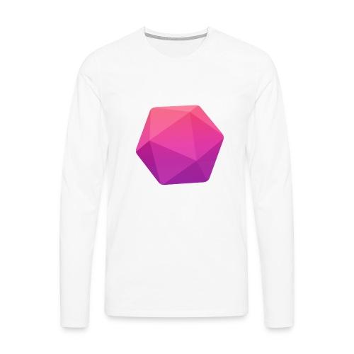 Pink D20 - D&D Dungeons and dragons dnd - Miesten premium pitkähihainen t-paita