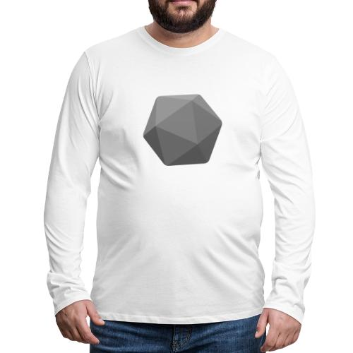 Grey d20 - D&D Dungeons and dragons dnd - T-shirt manches longues Premium Homme