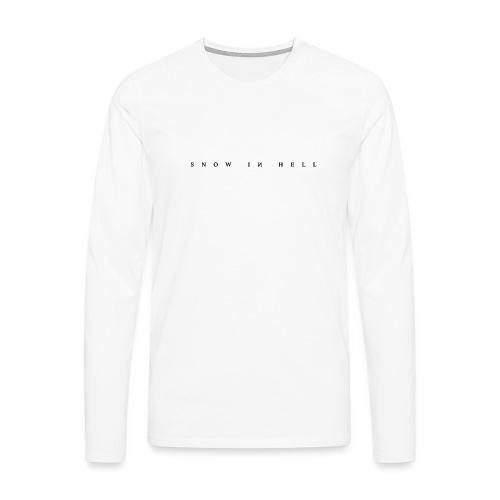 Snow in Hell White - Männer Premium Langarmshirt