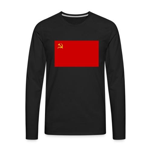 Eipä kestä - Miesten premium pitkähihainen t-paita