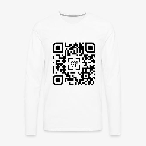 QR code (black) - Men's Premium Longsleeve Shirt