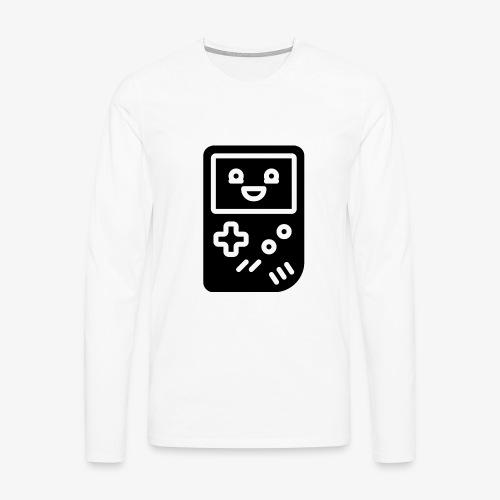 Smiling game console (black, inverted) - Men's Premium Longsleeve Shirt