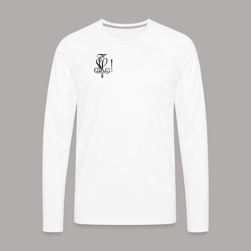 Zirkel, schwarz (vorne) - Männer Premium Langarmshirt