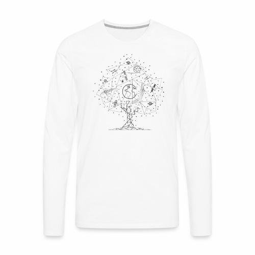 Interpretacja woodspace - Koszulka męska Premium z długim rękawem