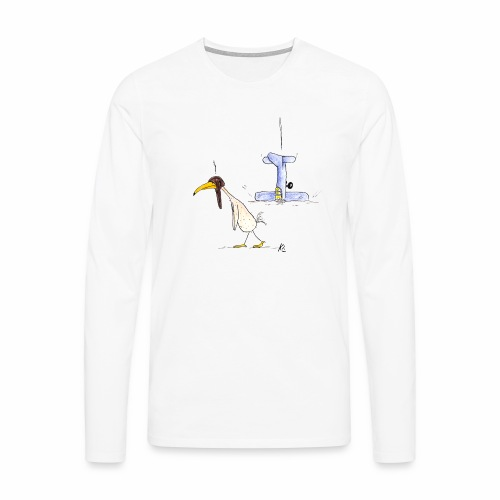 cartoon_Kleimdesign_abstu - Männer Premium Langarmshirt