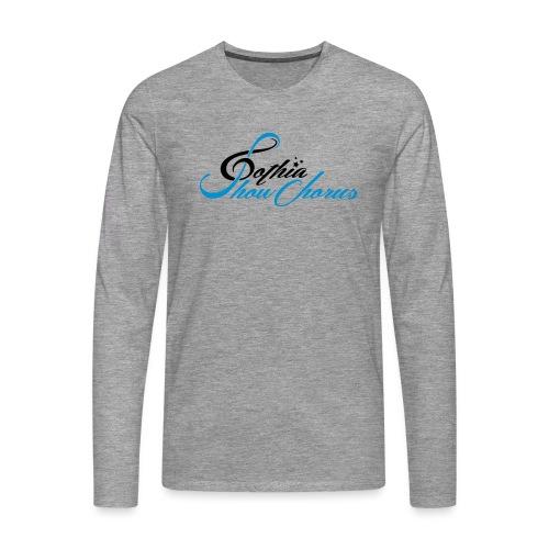 GothiaShowChorus_liggande svart blå - Långärmad premium-T-shirt herr