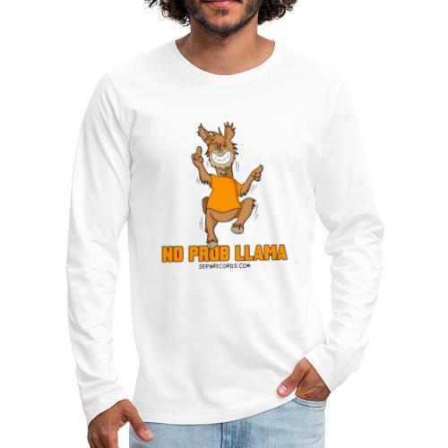 NO PROB LLAMA - Maglietta Premium a manica lunga da uomo