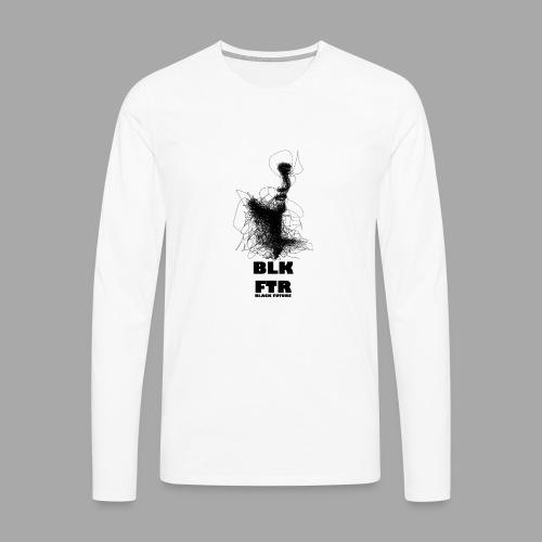 BLK FTR N°5 - Maglietta Premium a manica lunga da uomo