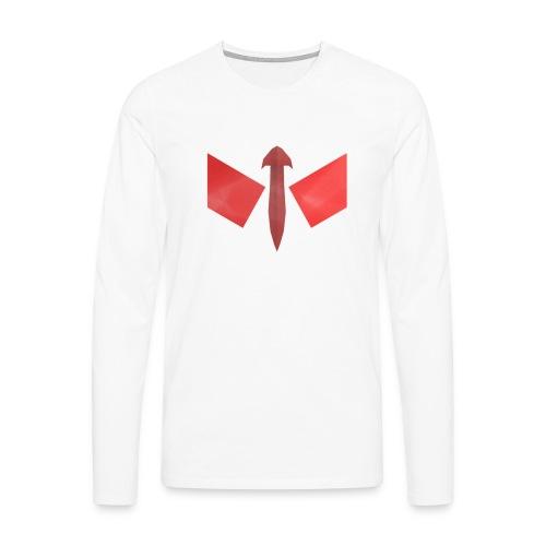butterfly-png - Mannen Premium shirt met lange mouwen