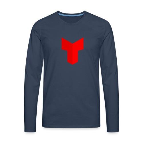redcross-png - Mannen Premium shirt met lange mouwen