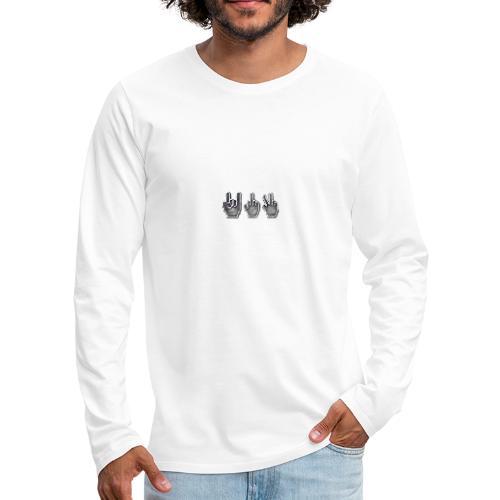 Fingers types - Camiseta de manga larga premium hombre