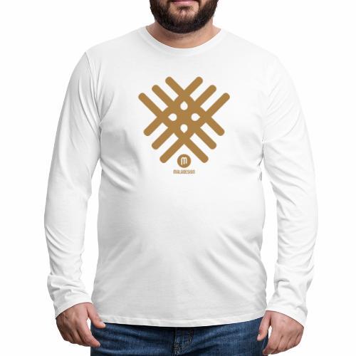 Maladesign - Miesten premium pitkähihainen t-paita
