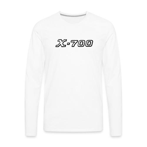 Minolta X-700 White - Maglietta Premium a manica lunga da uomo