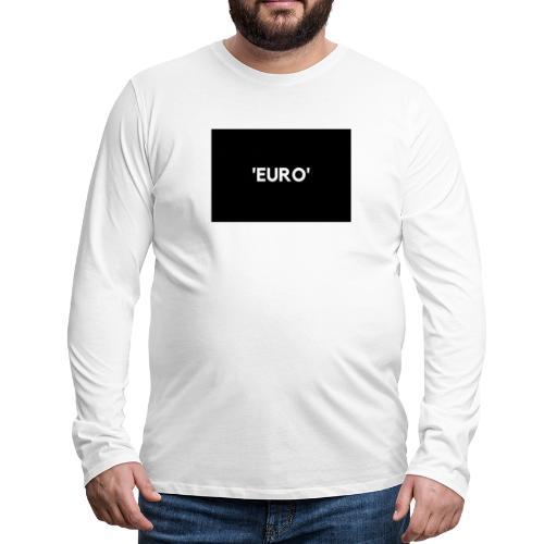 EURO - Herre premium T-shirt med lange ærmer